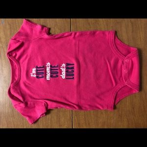 3/$15 NWOT Carter's Sz 18M Hot Pink Graphic Onsie